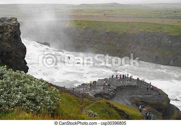 Gullfoss, waterfall in Iceland - csp30396805