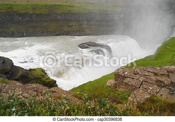Gullfoss, waterfall in Iceland - csp30396838