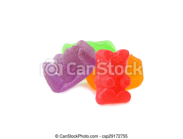gummy bears on a white background - csp29172755