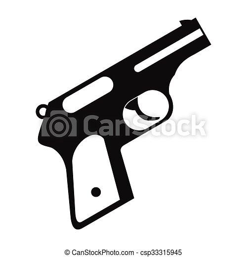 Gun Black Simple Icon