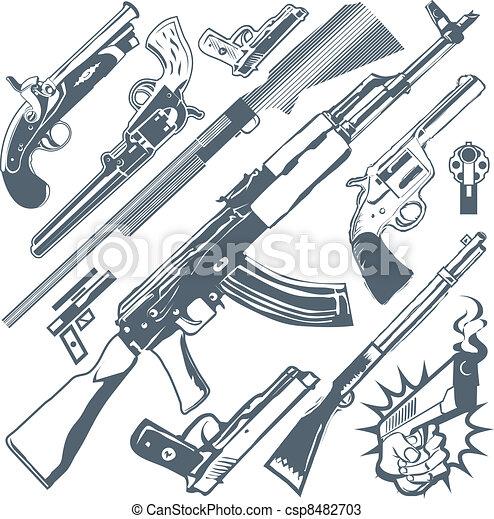 Gun Collection Clip Art Collection Of Various Firearms