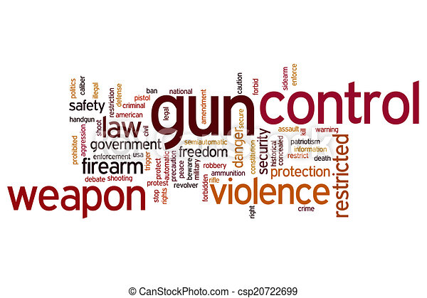 gun control word cloud gun control concept word cloud stock  gun control word cloud stock illustration