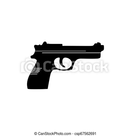 gun icon weapon vector military equipment illustration logo template https www canstockphoto com gun icon weapon vector military 67562691 html