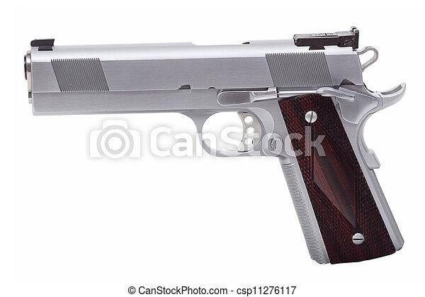 Gun on white background - csp11276117