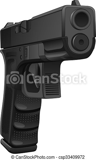 Gun pointing at you is a detailed illustration of a semi ...