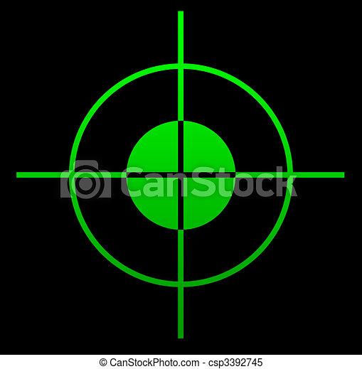 Gun sight at night - csp3392745