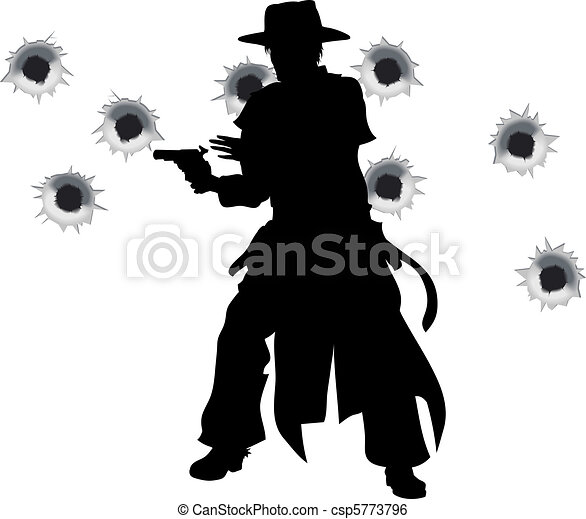 Gun slinger western shoot-out - csp5773796