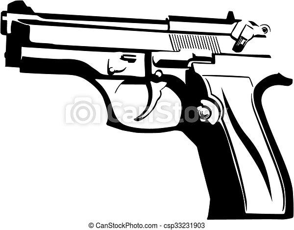 black gun on a white background vector clipart search illustration rh canstockphoto com gun vector 2015 gun vector png