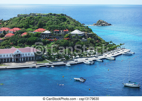 Gustavia Harbor, St. Barths - csp13179630