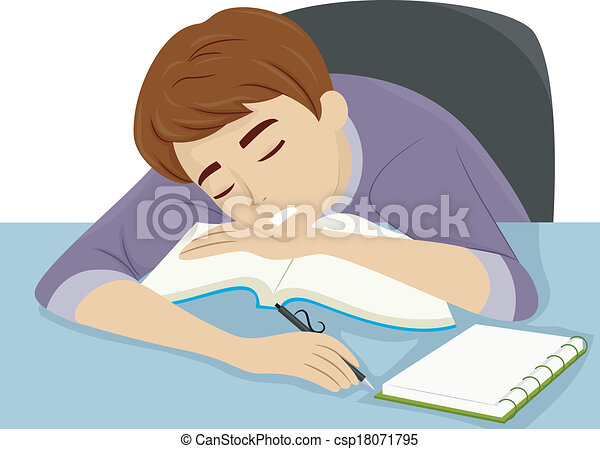 Guy Dozing Off to Sleep - csp18071795