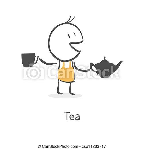 guy drinks tea - csp11283717