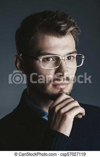 0d5fd7d1af38 Guy in spectacles. Elegant man in glasses. optics style for men ...