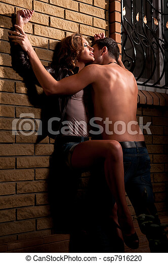 kissing against the wall
