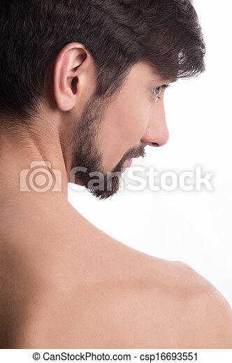 Side profile of a man