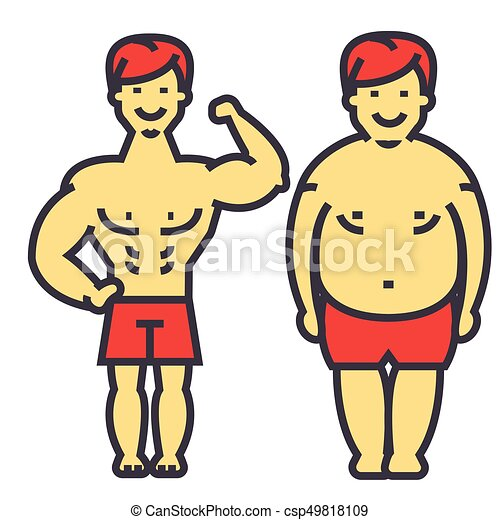 guy losing weight fat guy before and after diet and vector rh canstockphoto co uk short fat guy clipart Fat Guy Exercising Clip Art