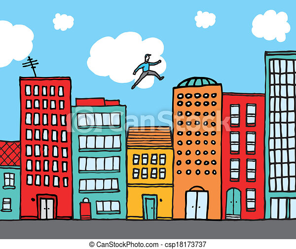 guy practising parkour in the city cartoon illustration cyclist clipart png cycling clip art images