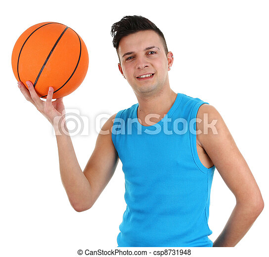 Guy with a basketball - csp8731948