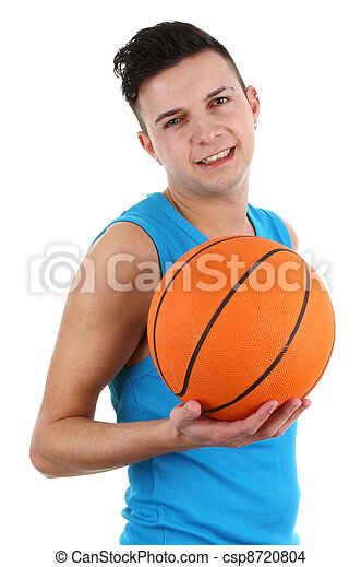 Guy with a basketball - csp8720804