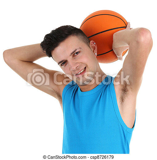 Guy with a basketball - csp8726179