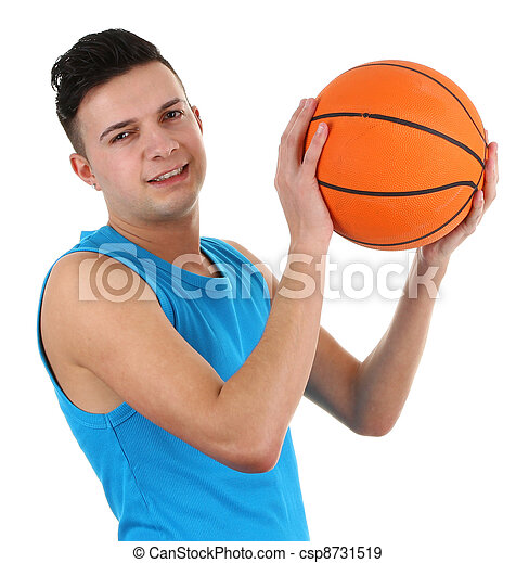 Guy with a basketball - csp8731519