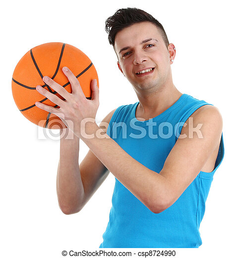 Guy with a basketball - csp8724990