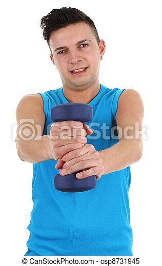 guy with a dumbell - csp8731945