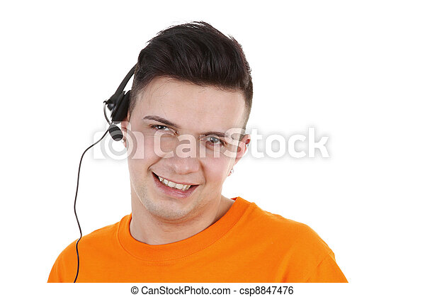 guy with headset - csp8847476