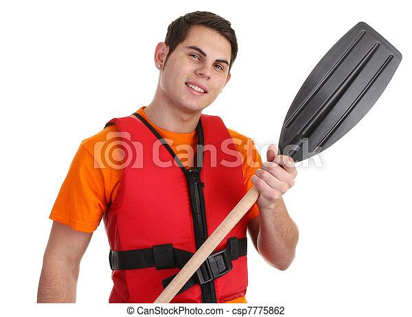 Guy with lifejacket - csp7775862