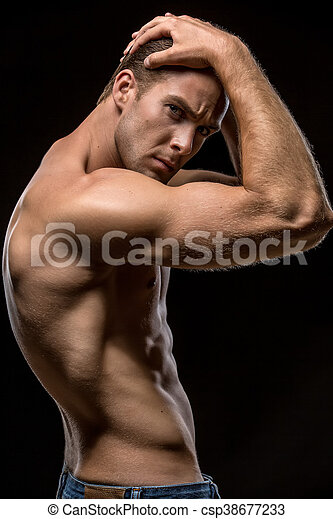 All above Hands behind neck male nude