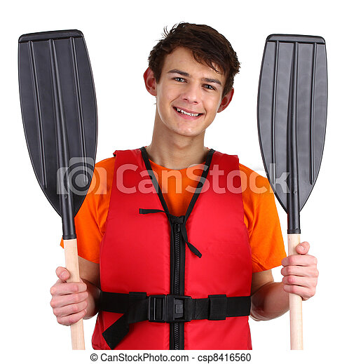 Guy with oars - csp8416560