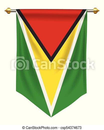 Guyana 優勝旗 Guyana 隔離された 旗 優勝旗 白 あるいは