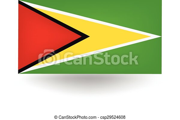 Guyana Flag - csp29524608