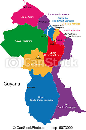 Guyana map - csp16073000