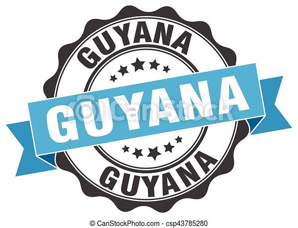 Guyana round ribbon seal - csp43785280
