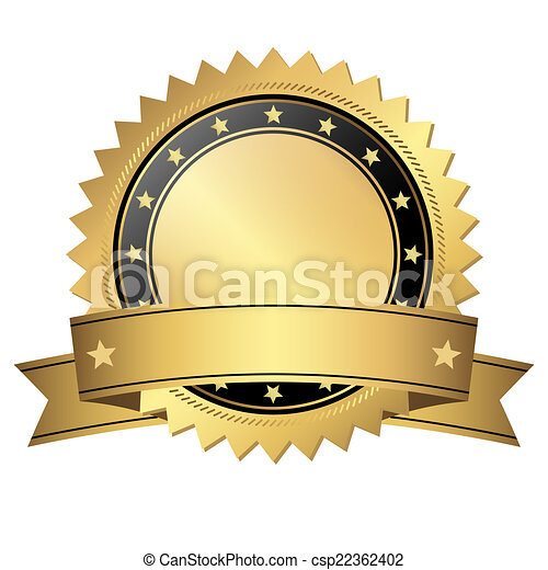 guzik, chorągiew, szablon - csp22362402