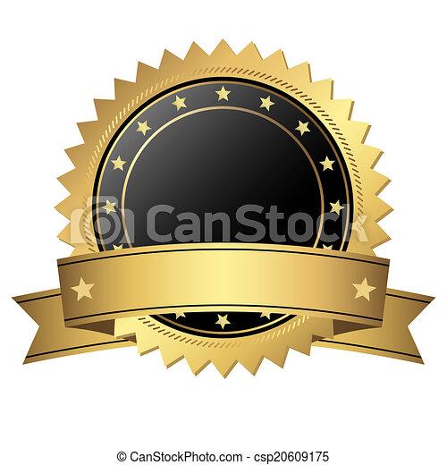 guzik, chorągiew, szablon - csp20609175