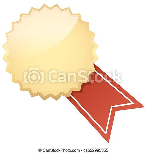 guzik, chorągiew, szablon - csp22995355