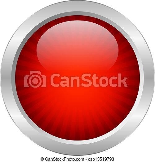 guzik, wektor, czerwony - csp13519793