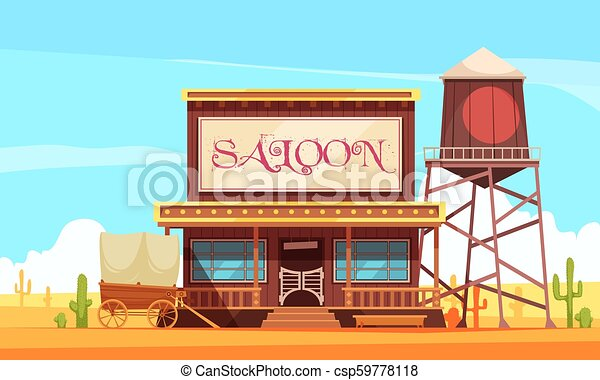 Wild West Illustration Scene With Detail Royalty Free Cliparts, Vectors,  And Stock Illustration. Image 13424886.