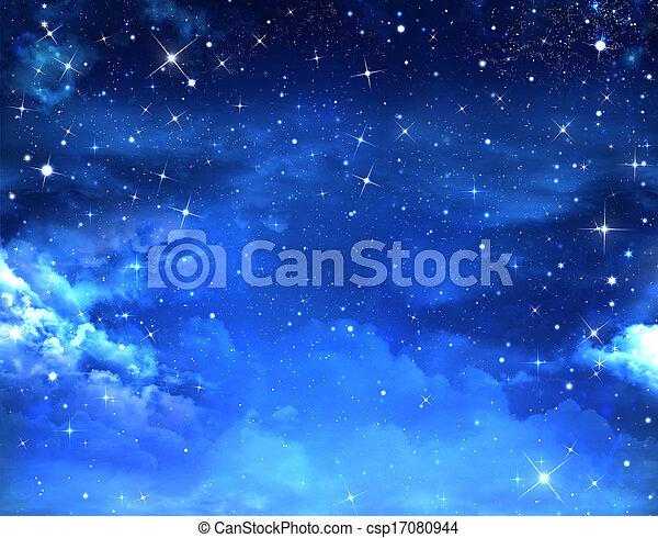 gwiaździste niebo - csp17080944