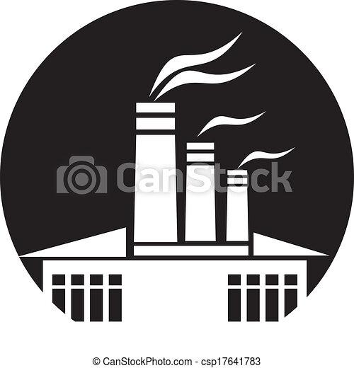 gyár, ikon - csp17641783