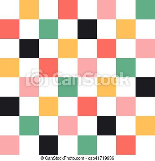 gyémánt, színes, chirstmas, sakkjáték, háttér, bizottság - csp41719936