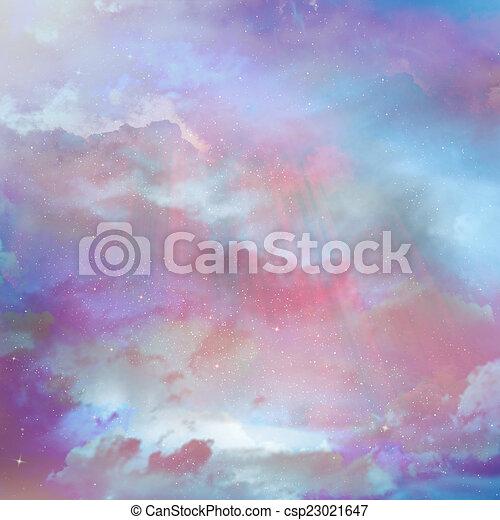 gyönyörű, ég, háttér - csp23021647