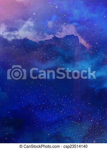 gyönyörű, ég, háttér - csp23514140