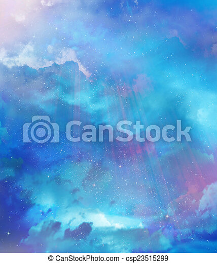gyönyörű, ég, háttér - csp23515299