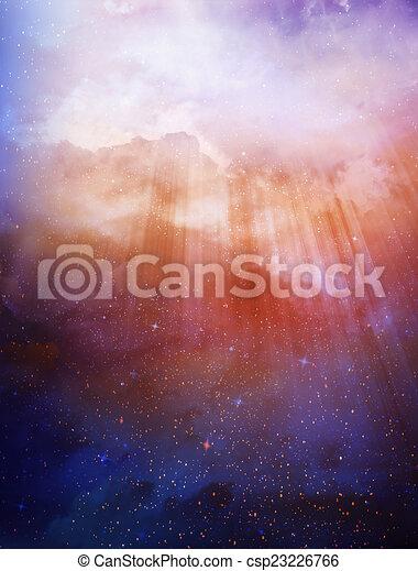 gyönyörű, ég, háttér - csp23226766