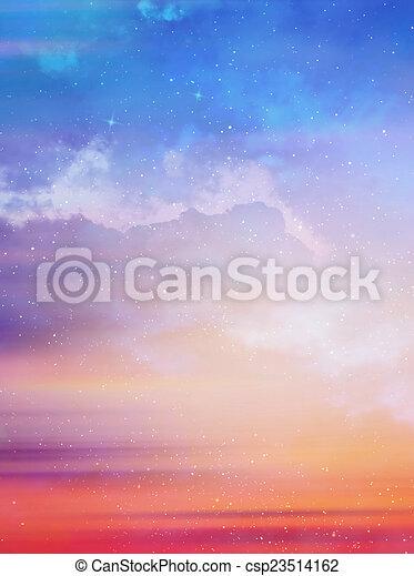 gyönyörű, ég, háttér - csp23514162