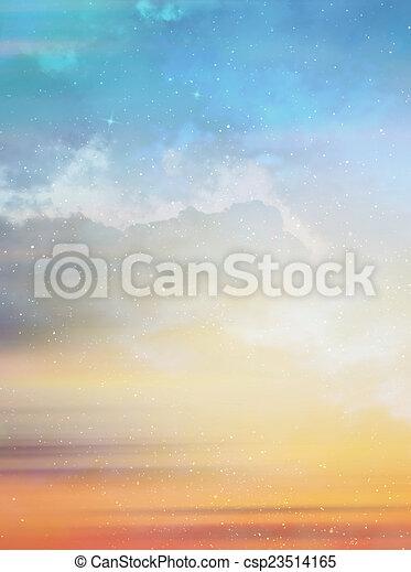 gyönyörű, ég, háttér - csp23514165