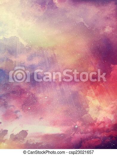 gyönyörű, ég, háttér - csp23021657