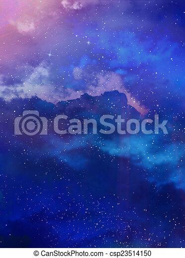 gyönyörű, ég, háttér - csp23514150